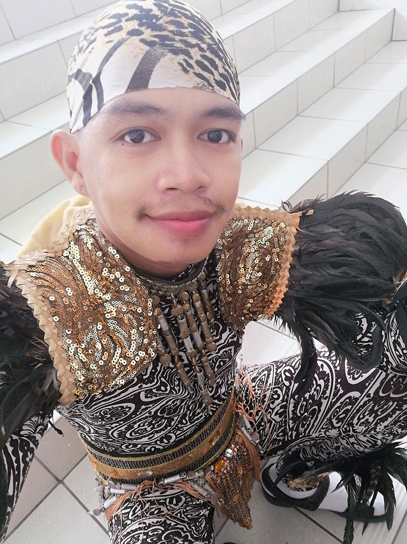 Angelito in his dance costume.